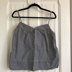 J. Crew Gingham Cami with Pockets